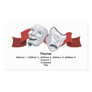 El teatro enmascara el fondo de la tarjeta de visi