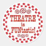 El teatro es Funtastic Etiqueta Redonda