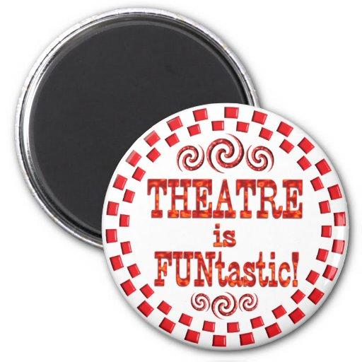 El teatro es Funtastic Imán Redondo 5 Cm