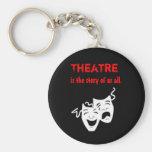 El teatro es la historia de nosotros toda llavero personalizado