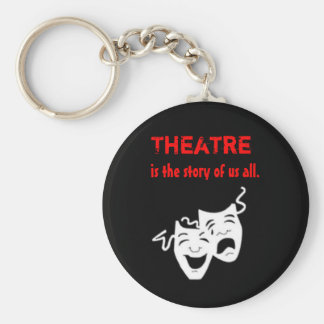 El teatro es la historia de nosotros toda llavero redondo tipo pin