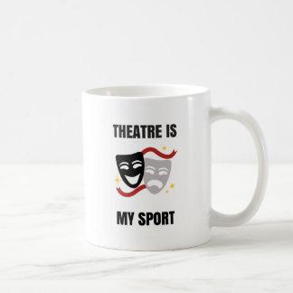 El teatro es mi deporte - taza de café del friki