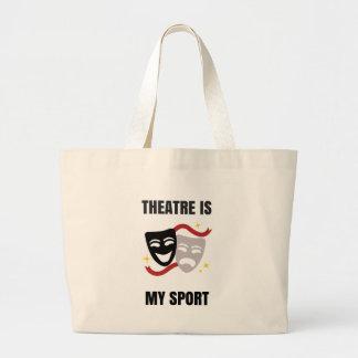 El teatro es mi tote del deporte bolsa tela grande