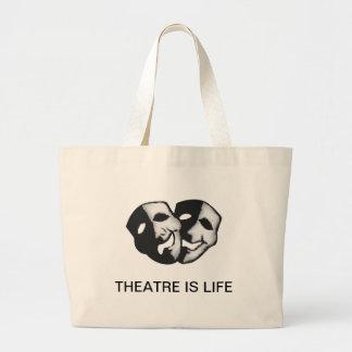 El teatro es vida bolsa tela grande