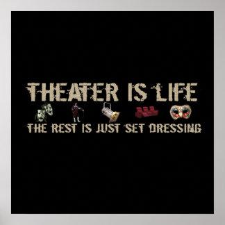 El teatro es vida póster