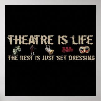 El teatro es vida posters