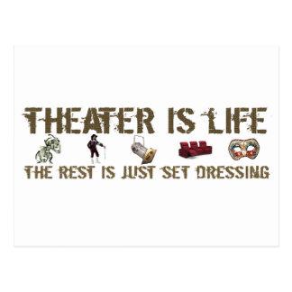 El teatro es vida postal