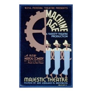 El teatro federal presenta una comedia musical WPA Posters