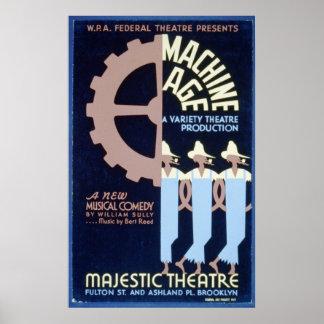 El teatro federal presenta una comedia musical WPA Póster