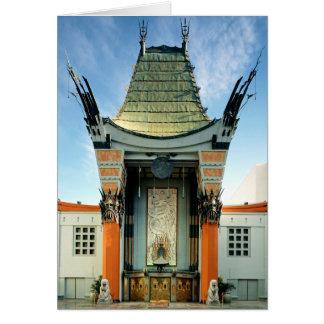 El teatro Hollywood de Grauman Tarjeta De Felicitación