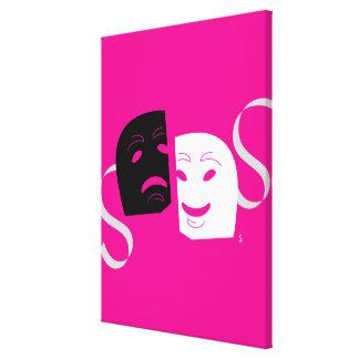El teatro iconográfico enmascara B+W Impresiones De Lienzo