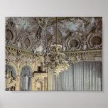 El teatro, interior, classi de Monte Carlo, Rivier Posters