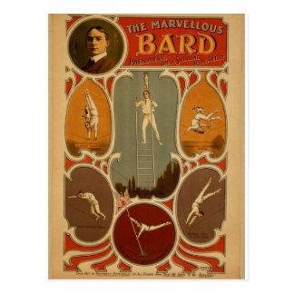 El teatro maravilloso del vintage del bardo postal