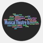 El teatro musical es pegatinas