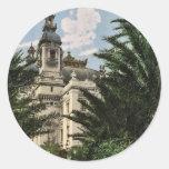 El teatro, obra clásica Photochr de Monte Carlo, Etiqueta Redonda