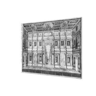 El teatro olímpico en Vicenza Impresión En Tela