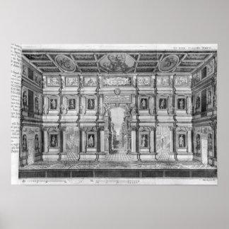 El teatro olímpico en Vicenza Póster
