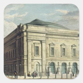 El teatro real, carril de Drury, en Londres, Pegatina Cuadrada