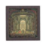 El Teatro Reale en Turín (aceite en lona) Cajas De Regalo De Calidad