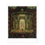 El Teatro Reale en Turín (aceite en lona) Tarjeta Postal
