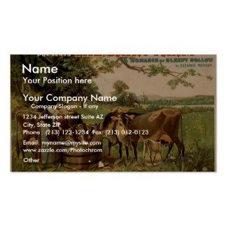 El teatro retro de la granja lechera tarjeta de visita