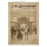 El teatro retro del electricista felicitacion