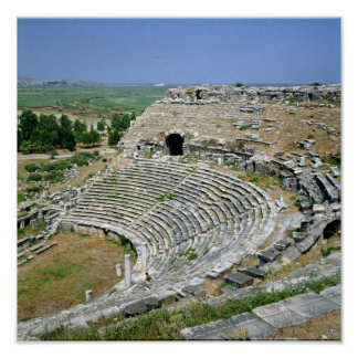 El teatro romano, 1ro-2do ANUNCIO de los siglos Póster