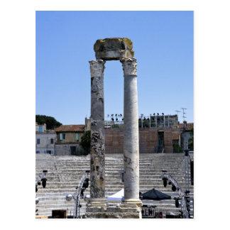 El teatro romano en Arles, Francia Tarjeta Postal
