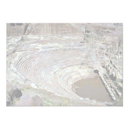 El teatro romano, Petra, Jordania Invitaciones Personalizada