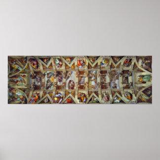 El techo del poster de la capilla de Sistine Póster