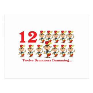 el teclear de 12 baterías de los días doce tarjeta postal