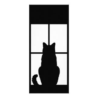 El tecleo del gato de la ventana a modificar para tarjetas publicitarias personalizadas