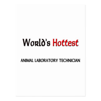 El técnico de laboratorio animal más caliente de l tarjeta postal