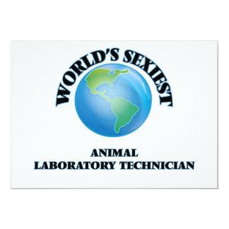El técnico del laboratorio animal más atractivo invitación 12,7 x 17,8 cm