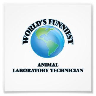 El técnico del laboratorio animal más divertido arte con fotos