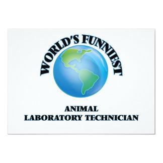 El técnico del laboratorio animal más divertido invitación 12,7 x 17,8 cm