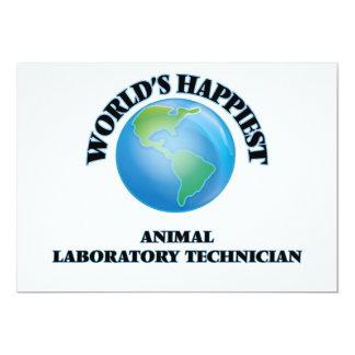 El técnico del laboratorio animal más feliz del invitación 12,7 x 17,8 cm