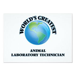 El técnico del laboratorio animal más grande del invitación 12,7 x 17,8 cm