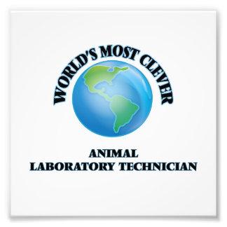 El técnico del laboratorio animal más listo del impresiones fotográficas