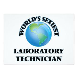 El técnico del laboratorio más atractivo del mundo invitación 12,7 x 17,8 cm