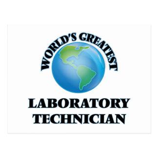 El técnico del laboratorio más grande del mundo tarjeta postal