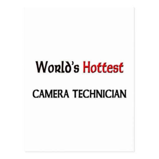 El técnico más caliente de la cámara de los mundos tarjetas postales