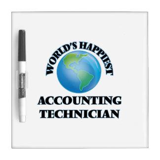 El técnico más feliz de la contabilidad del mundo pizarra blanca