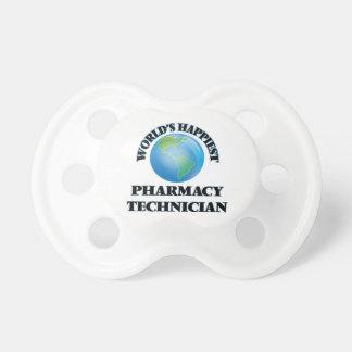 El técnico más feliz de la farmacia del mundo chupete de bebé
