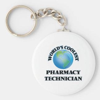 El técnico más fresco de la farmacia del mundo llavero redondo tipo pin