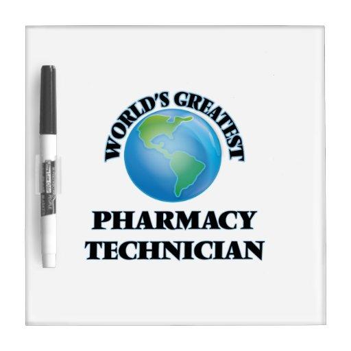 El técnico más grande de la farmacia del mundo tableros blancos