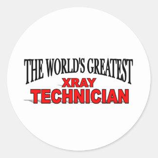 El técnico más grande de la radiografía del mundo pegatinas redondas