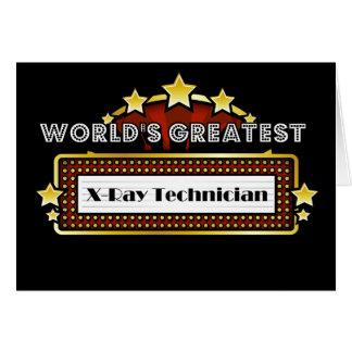 El técnico más grande de la radiografía del mundo felicitaciones
