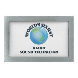 El técnico sano de radio más atractivo del mundo hebilla cinturón rectangular