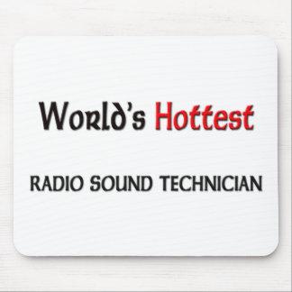 El técnico sano de radio más caliente de los mundo alfombrillas de ratones